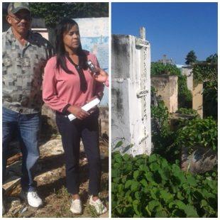 Comunitarios de Los Mina denuncian que su cementerio se cae a pedazos